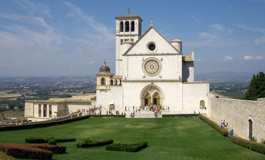 Re Abdullah II, regina Rania, Merkel e Conte ad Assisi per lampada pace San Francesco